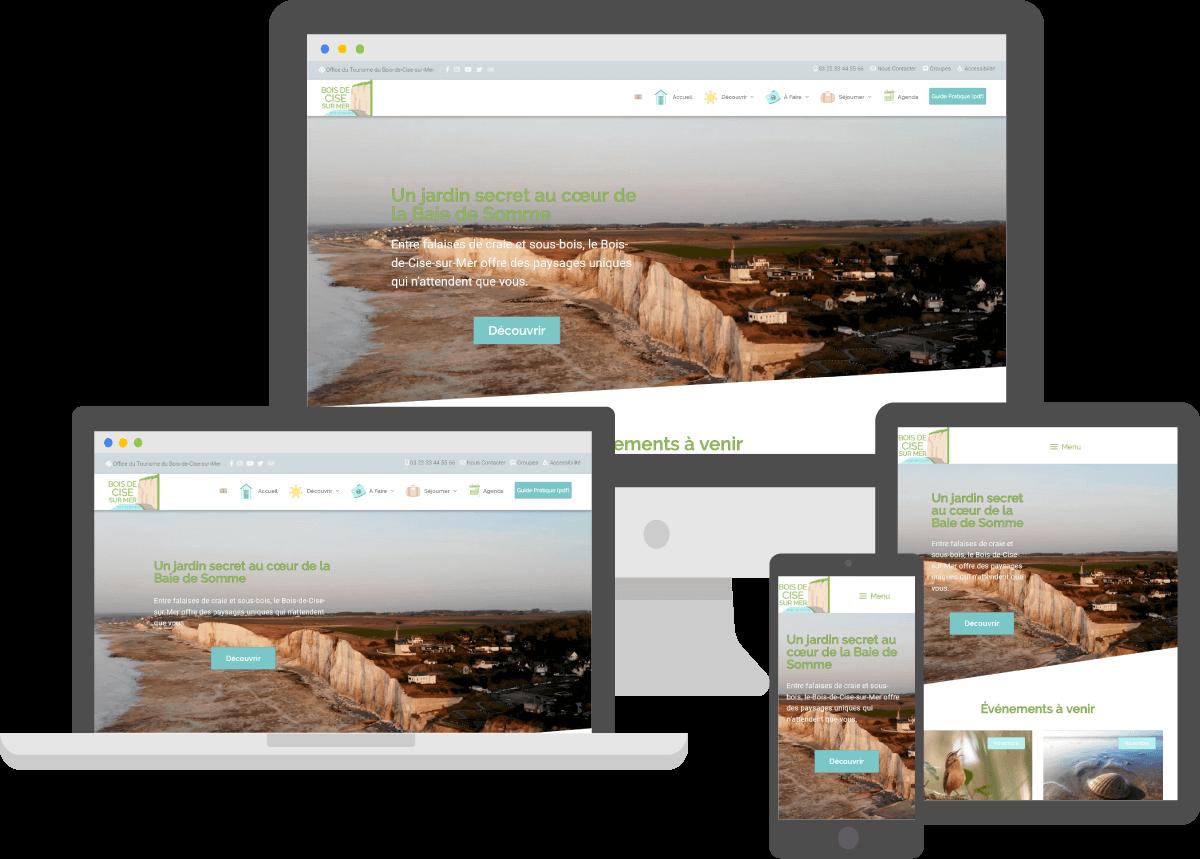 adaptatif page accueil responsive office tourisme